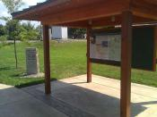 Kiosk and dedication marker