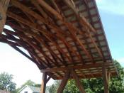 Underside of 18 foot wide roof