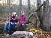 Kids at the cache