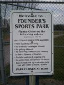Founder's Park Rules