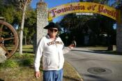 Owner holding cache at Fountain of Youth
