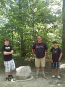 A blurry pic taken with my phone by a well meaning vistor. Yuck, Yuck Jr., and nephew of Yuck.